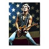LaMAGLIERIA Poster Bruce Springsteen - Posterdruck glänzend laminiert - Format, 50cmx70cm