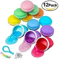 Foonii 12PC Macarons Slime Colorful Magica Argilla dodici colori gelatina trasparente, stress relief, per bambini Il miglior regalo