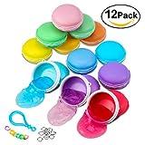 Foonii 12PCS Macarons Slime Schleim Crystal Schlamm Kit Lehm Gummi Schlamm Plasticine Release Druck Stress Relief Magic
