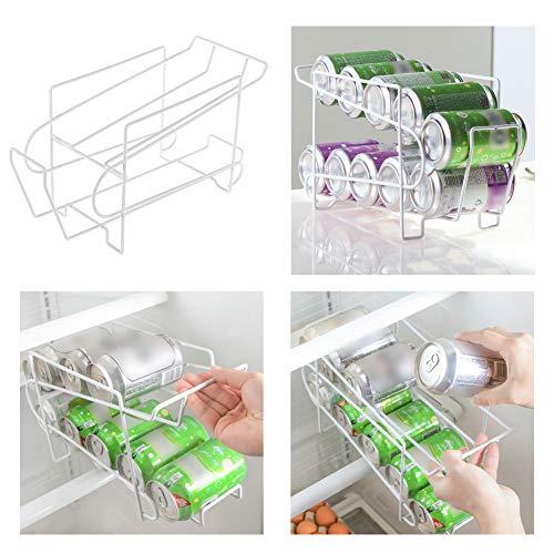 PinShang Soporte para latas de Cerveza, dispensador de refrescos, Organizador de Almacenamiento de refrigerador, Herramienta de Almacenamiento de Bebidas