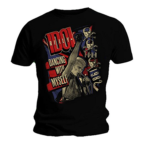 Billy Idol Official Unisex  T Shirt Tour 1982 'Dancing with Myself'