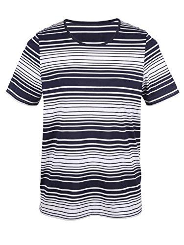 Damen Shirt im Ringeldessin by m. collection Marine/Weiß