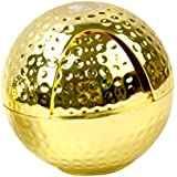 Phenovo Golf Ball Shaped Zinc Alloy Ashtray, Cigarette Ashtray For Indoor Or Outdoor Use, Desktop Ash Tray For Home Office Decoration