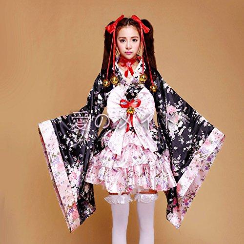 Damen Bekleidung Serie Uniform Bekleidung Criada charmant Halloween Gothic Cosplay Kleid M Pink