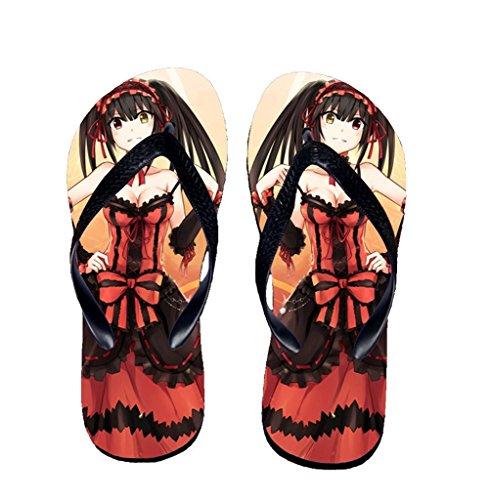 Bromeo Date A Live Anime Unisexe Flip Flops Tongs 452