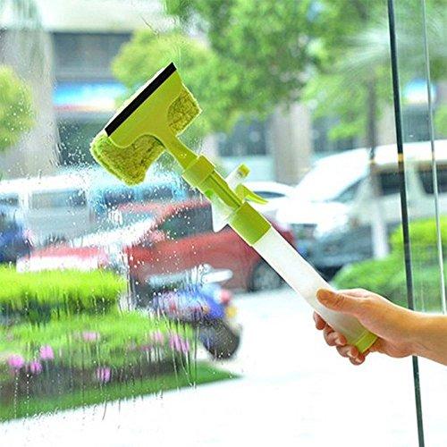 3in 1lavavetri, Risingmed vetro tergicristallo doccia racla 3-in-1lavavetri tergicristalli parabrezza Cleaner Brush scrubber in microfibra con flacone spray per finestra doccia in vetro auto casa e ufficio Green