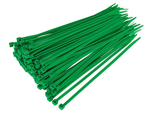 Gocableties 100 Stück Kabelbinder grün-300mm x 4,8mm-Hochwertige, starke Nylon-Kabelbinder
