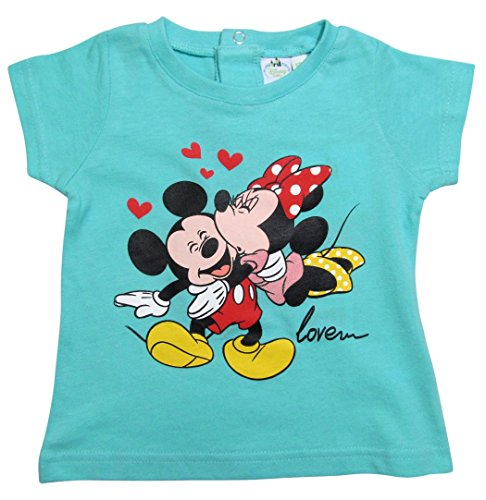 Minnie Mouse Kollektion 2016 T-Shirt 68 74 80 86 92 Mädchen Sommer Shirt Kurz Mickey Mouse Maus Blau ( 68 - 74 , Blau)