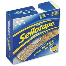Sellotape Réf 1445185 Pastille adhésive 125 pastilles Diamètre 22 mm Jaune (Import Royaume Uni)