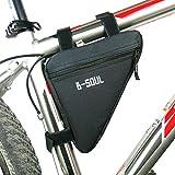 Lezed Sacs triangulaires en nylon de haute qualité,Sacs de selle, vélos de montagne,Bicyclettes,Vélo de course (noir)