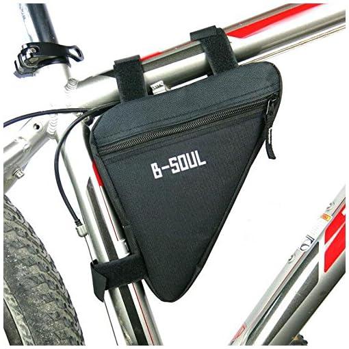 Lezed Borse triangolari in nylon di alta qualità,Borse a sella, mountain bike,Ciclismo,Racing bici (nero)