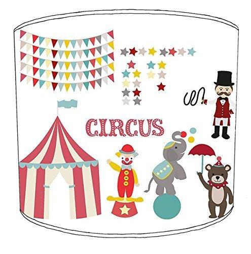 Premier Lampshades 30,5cm Tabelle Circus Print Childrens Lampenschirme7 (Circus Lampenschirm)