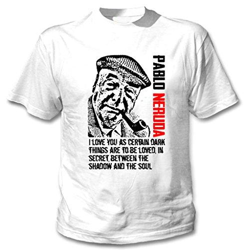 Teesquare1st Men's PABLO NERUDA QUOTE White T-Shirt Size XXXLarge