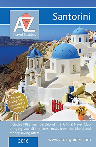 A to Z Guide to Santorini 2016 Cover Image