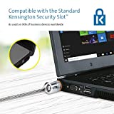 Kensington MicroSaver Keyed Laptop Lock with High-Carbon, Cut-Resistant Cable and T-Bar Locking Mechanism - 1.8m Length (64020)