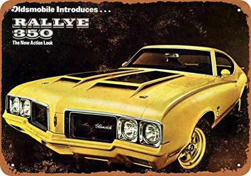 Home Decor 8 X 12 Metal Sign 1970 Oldsmobile Rallye 350 Vintage Look ()