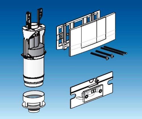 Friatec WC Modernisierungsset Friabloc F100 auf F102, 2 Mengen weiß