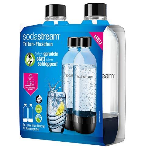 SodaStream DuoPack 2x 1L Tritan-Flasche - spülmaschinengeeignet! (BPA frei) - Ersatzflaschen für SodaStream Wassersprudler mit PET-Flaschen