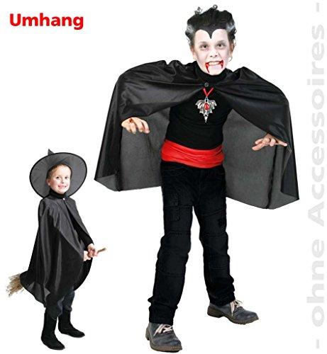 derkostüm, Vampirumhang, Cape, Graf Drakula, 1-tlg Umhang in versch. Größen (128/140) (1. Geburtstag Motto-ideen Für Jungen)