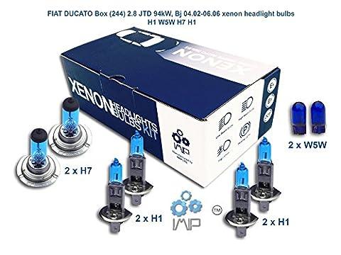 FIAT DUCATO Box 244 2.8 JTD 94kW, Bj 04.02-06.06 Xenon-Scheinwerfer H1 W5W H7 H1