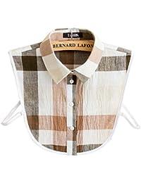 Manches en coton à manches collier détachable collier faux col chemise cols unique pour les femmes