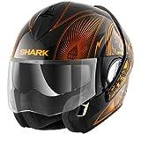 SHARK Casque Moto Evoline Séries 3 Mezcal Chrome KUO, Orange, Taille L