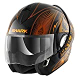 Shark Casque Moto Evoline Series 3 Mezcal Chrome KUO, Orange, Taille XS