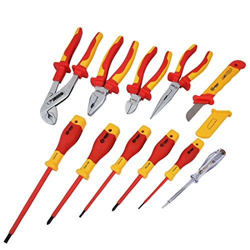 BOOHER IEC-60900 VDE Isoliert Elektriker Schraubendreher Werkzeug Set 11 Stück