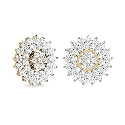 PC Jeweller The Leonelle 18KT Yellow Gold and Diamond Earring for Women