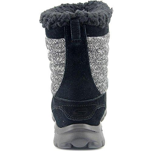 Skechers Go Passeggiata punta rotonda Move-afterglow camoscio marrone inverno Boot Black