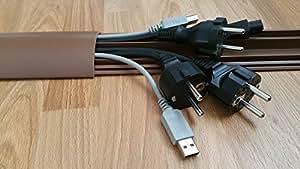 1m fussboden kabelkanal selbstklebend 70mm breit farbe braun baumarkt. Black Bedroom Furniture Sets. Home Design Ideas