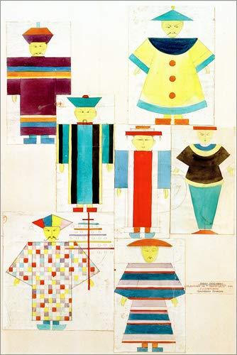 Poster 61 x 91 cm: Rossignol von Oskar Schlemmer/akg-Images - hochwertiger Kunstdruck, neues - Oskar Schlemmer Kostüm