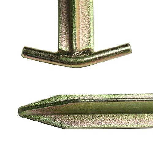 10T Zeltheringe – Stahl T-Profil, 4er-Set - 3