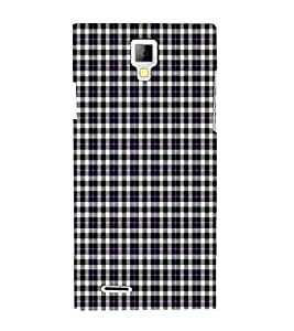 Fiobs Designer Phone Back Case Cover Micromax Canvas Xpress A99 :: Micromax A99 Canvas Xpress ( White Black Blue Pattern Design )