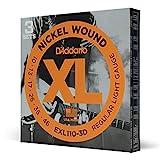 D'Addario EXL110-3D - Juego de cuerdas para guitarra el�ctrica de acero y n�quel (pack 3 juegos)