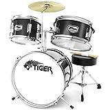Tiger JDS7-BK 3-teiliges Schlagzeugset - Schwarz