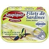 Saupiquet Filets sardines huile dolive vierge extra 100g - Prix Unitaire - Livraison Gratuit Sous 3 Jours