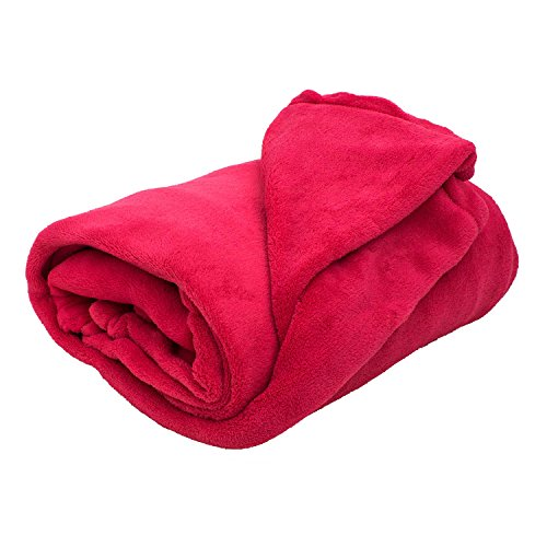 thumbsUp! - Hugz - Couverture Polaire Polyester Rouge 135 x 175cm - 0001380