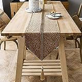 Toile De Jute Chemin De Table Table Runner Napperon Chemin De Table Linge De Table En Salon Table Drapeau De Table Décor Jardin Restaurant (Color : Brown, Size : 30 * 200cm)