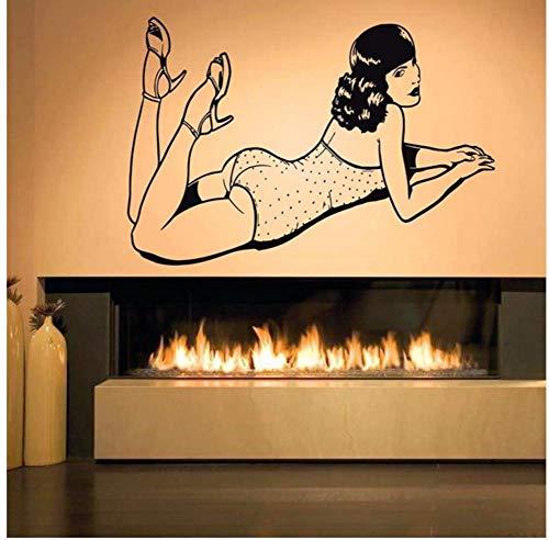 Lvabc 38X57 Cm Wand Zimmer Dekor Kunst Vinyl Aufkleber Wandbild Sexy Pin Up Girl ()