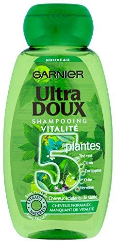 Garnier Ultra Doux Shampooing Vitalité pour Tous Types de Cheveux 5 Plantes 250 ml - Lot de 3
