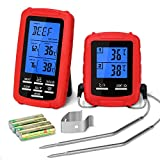Yissvic Grillthermometer BBQ Thermometer Digital Grillthermometer Funk mit 2 Temperaturfühlern