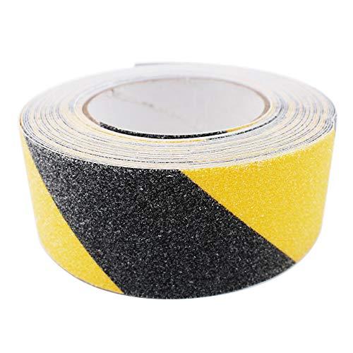 ARTGEAR Premium Qualität Antirutsch Klebeband, Antislip selbstklebend Band, Grip Tape Sicherheitsband fur Treppen/Schritte (10m × 5cm, Schwarz und Gelb)