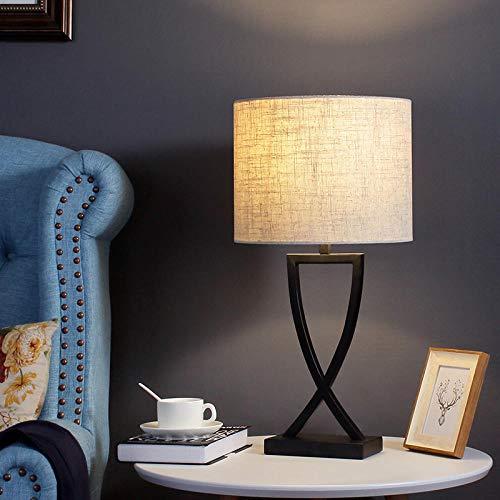 Nordic kreative schlafzimmer nacht wohnzimmer fernbedienung verdunkeln hotel modell zimmer nachttisch geschenk dekoration tischlampe@EA2132 runder Lampenschirm_[Dimmschalter] 5 Watt dimmbare LED-Lampe -