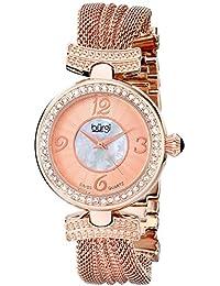 Burgi Damen Analog Display Swiss Quartz Rose Gold Watch