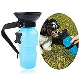 Easylifer Auto Hund Wasserflasche Travel Trinkflasche Reiseflasche mit Trinknapf für Haustier Draussen Trinken Wasser