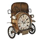 [en.casa]® Dekorative Wanduhr Oldtimer Front mit analoger Anzeige - 33 x 13 x 36 cm - mehrfarbig - Glas