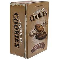OOTB Caja Rectangular Cookies, Metal, Café, 22 x 16 x 9 cm