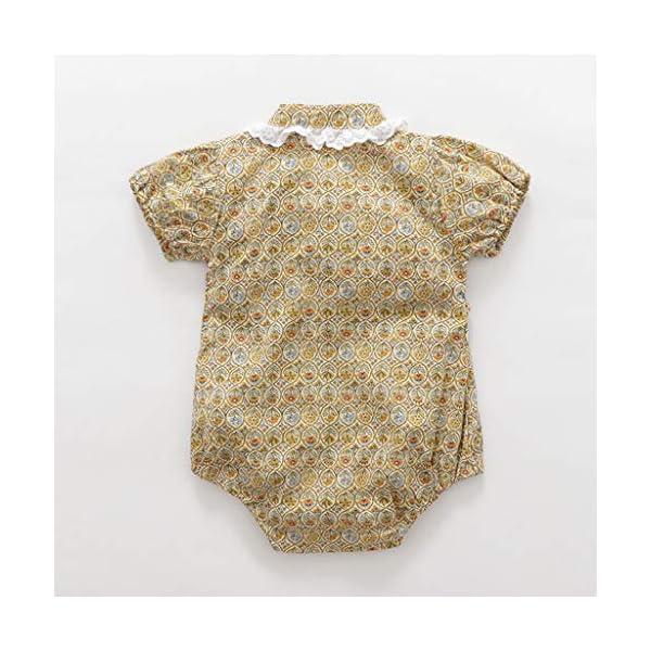 HEETEY Pijama para niña, para recién Nacidos, de Manga Corta, diseño Floral, Mono, sin Mangas, de una Sola Pieza, para… 3