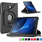 Samsung Galaxy Tab A 10.1 Housse Case, Infiland PU cuir 360 °degrés de rotation stand Smart Case ...